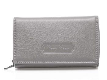 Duży szary matowy portfel damski Jennifer Jones