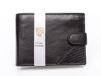 Poziomy portfel z blokadą RFID Secure