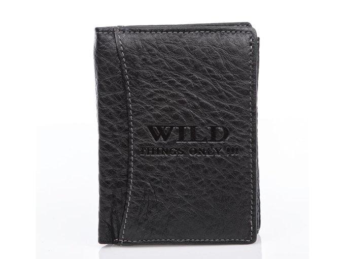 Czarny skórzany portfel męski WIlds
