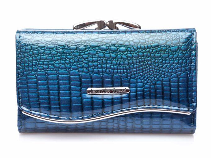 Niebieski damski portfel skórzany 5245 Jennifer Jones