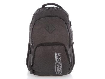 Szary plecak sportowy z portem USB