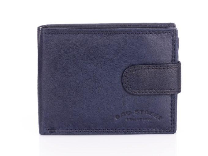 Granatowy skórzany portfel męski Bag Street