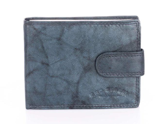 Szaro błekitny portfel męski Bag Street