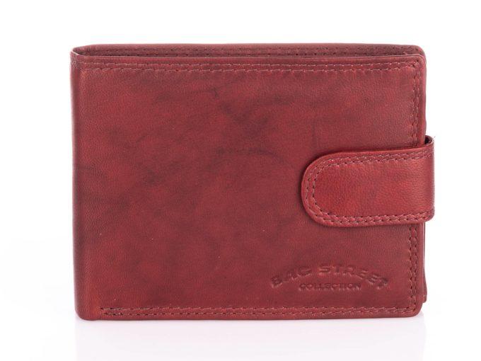 Ciemno brązowy portfel Bag Street zapinany na zatrzask