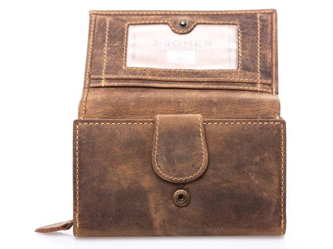 Dodatkowe zapięcie na zatrzask wewnątrz portfela