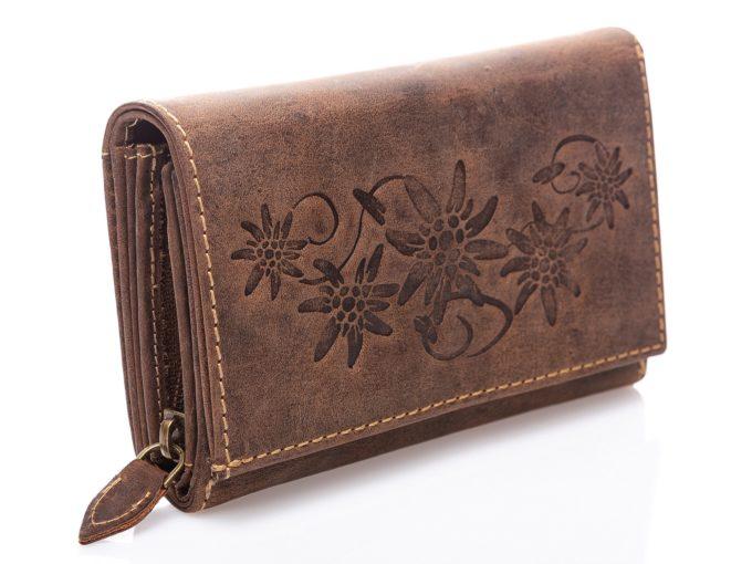 Duży portfel Harold's z kwiatami