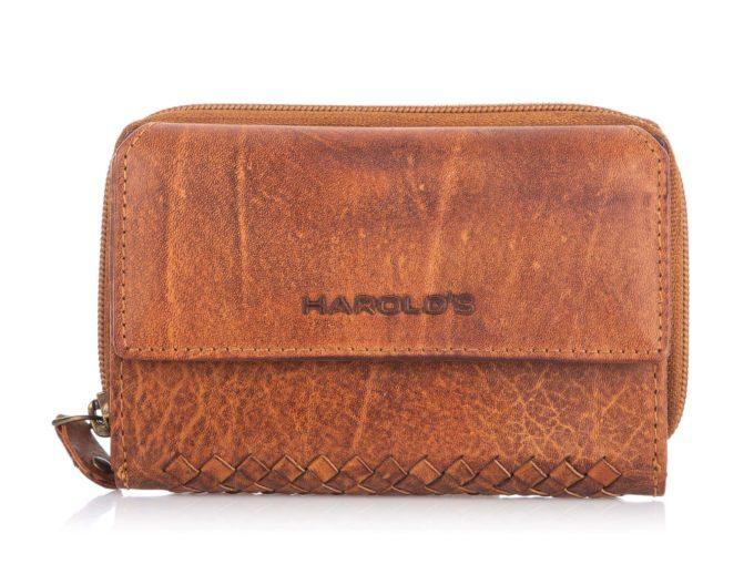 Brązowy duży portfel w stylu vintage retro