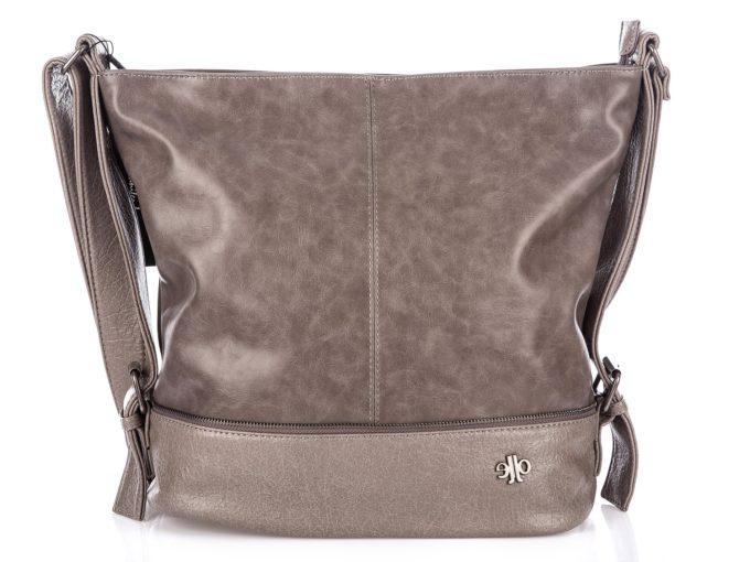 Duża torba Jennifer Jones w kolorze szaro-beżowym