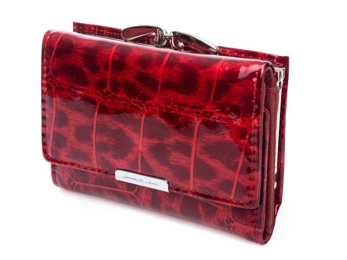 Damski portfel cieniowany czerwony Jennifer Jones 5282