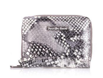 Mały srebrny portfel damski z brokatem Jennifer Jones