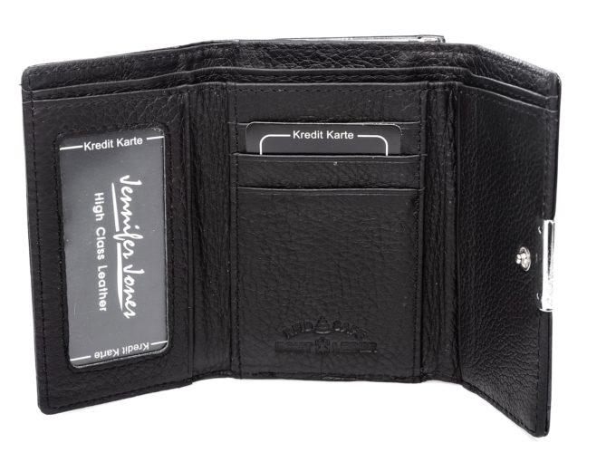Miejsce na dowód osobisty, zdjęcia i karty płatnicze w środku portfela