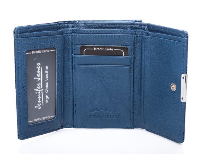 Wnętrze matowe, niebieskie z panelem na karty