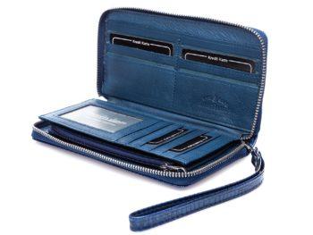 Miejsca na karty kredytowe i rabatowe w niebieskim portfelu 5295