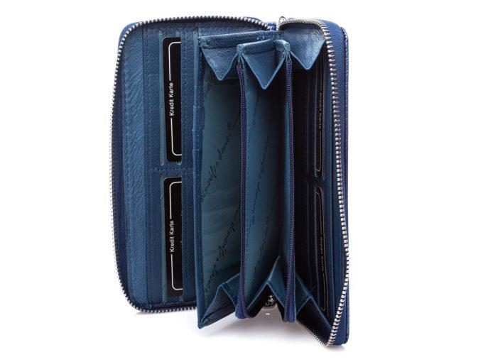 Wnętrze niebieskiego portfela 5295