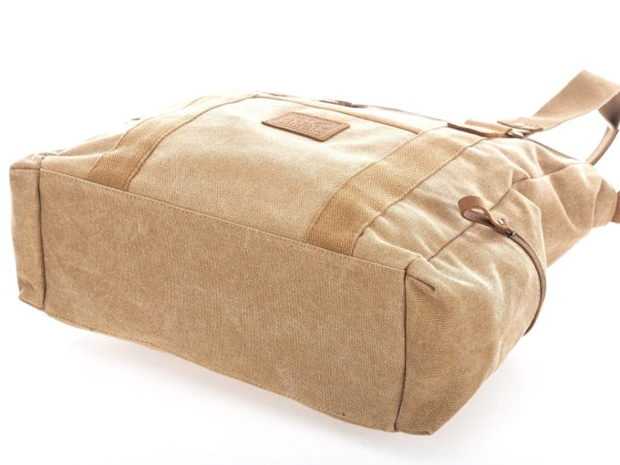 Dużą materiałowa torba damska typu shopperka