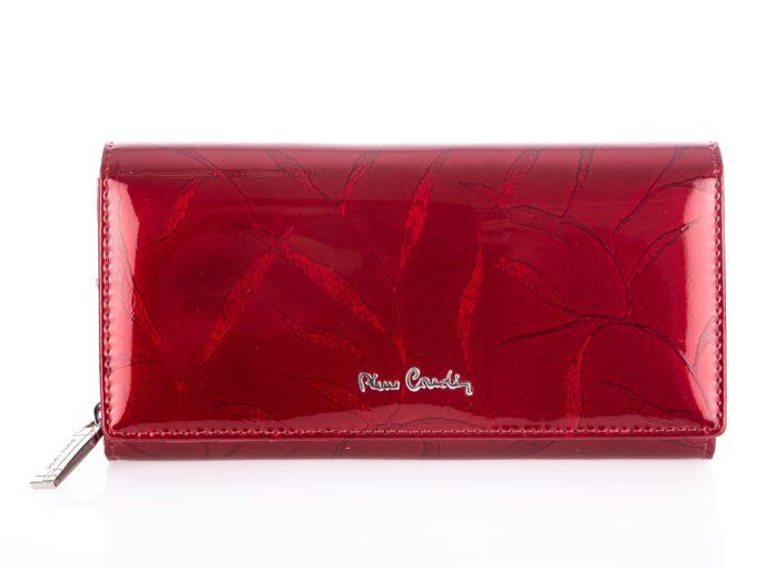 Duży portfel damski lakierowany w liście Pierre Cardin