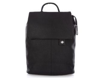 Elegancki czarny plecak damski z klapką Jennifer Jones