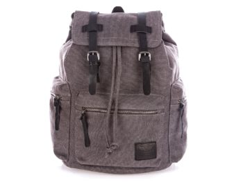 Szary plecak w stylu vintage