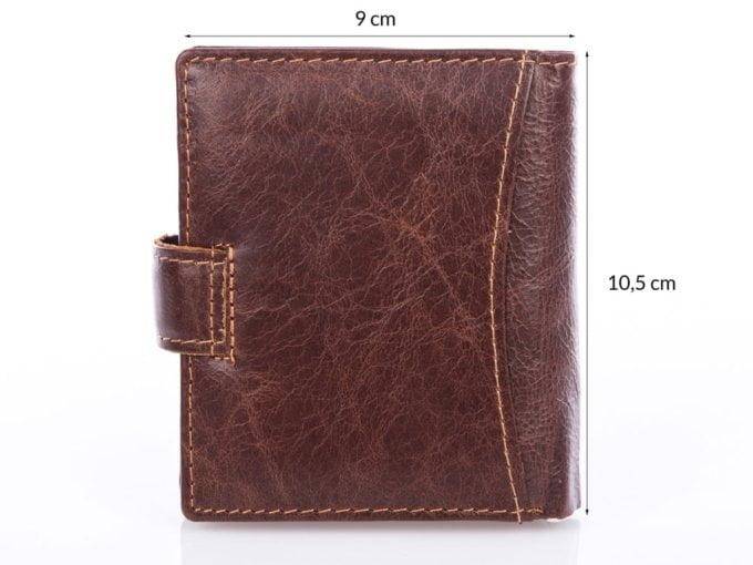Poręczny portfel męski ciemny brąz 5505