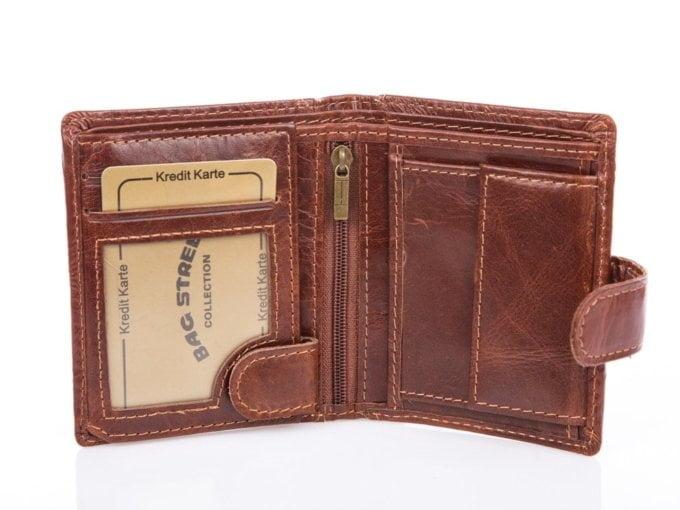 Brązowy poręczny portfel męski 5505