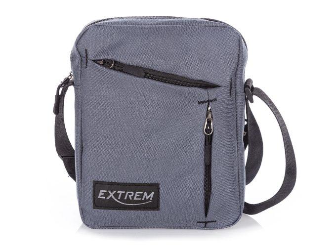 Średnia torba męska na ramię szara Extrem