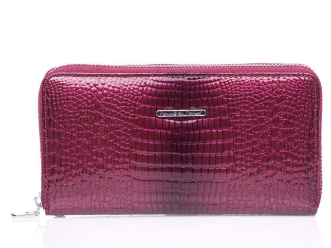 Fioletowy portfel damski ze skóry naturalnej Jennifer Jones