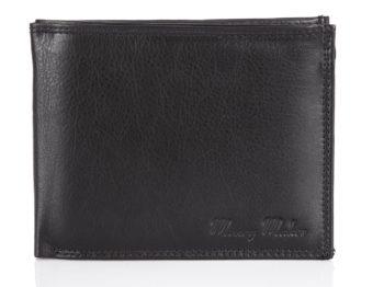 Klasyczny czarny portfel męski Money Maker