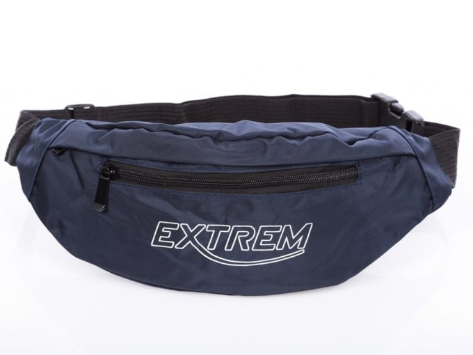 Granatowa nerka torebka na brzuch