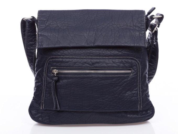 Granatowa torebka damska z klapką