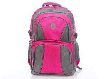 Szaro-różowy plecak szkolny Bag Street