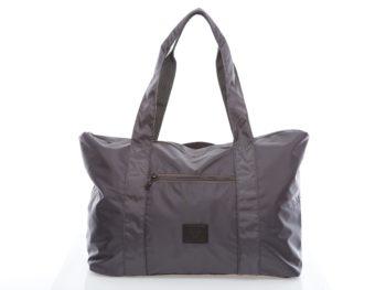 Szara torba podróżna lub plażowa