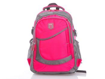 Różowo szary plecak do szkoły.