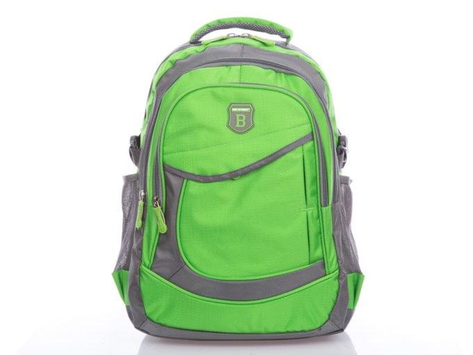 Zielono szary plecak do szkoły