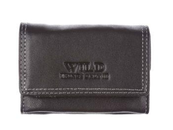 Nieduży czarny portfel skórzany WILD Things Only