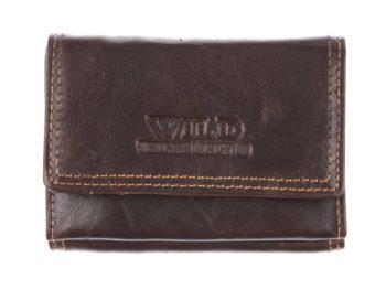 Mały ciemno-brazowy portfel męski