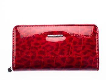 Duży czerwony cieniowany portfel damski Jennifer Jones
