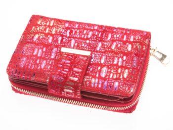 Portfel damski z brokatem czerwony 5198