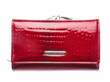 Lśniący portfel damski czerwony Jennifer Jones