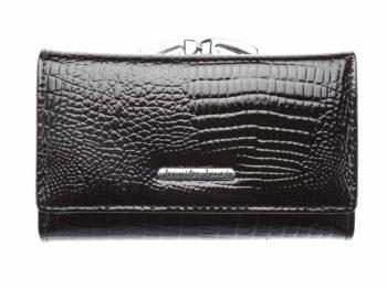 Czarny portfel damski z dwoma kieszeniami na monety Jennifer Jones