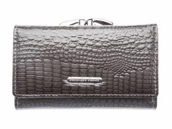 Szary portfel z dwoma kieszeniami na bilon Jennifer Jones