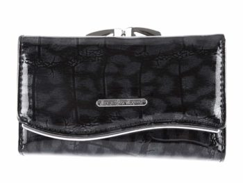 Czarny cieniowany portfel Jennifer Jones 5245