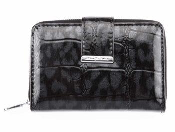 Czarny cieniowany portfel damski Jennifer Jones