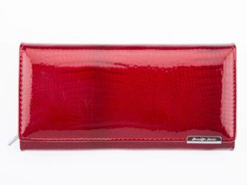 Duży lakierowany portfel damski Jennifer Jones 5288