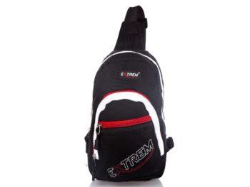 Czarno biały plecak na jedno ramię