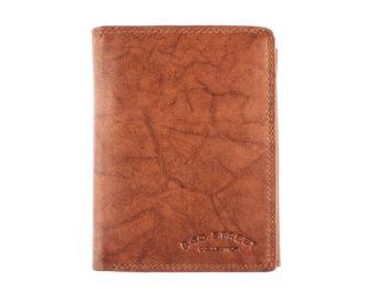 Jasno brązowy skórzany portfel męski Bag Street
