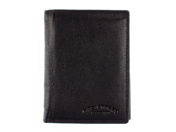 Czarny męski portfel skórzany Bag Street