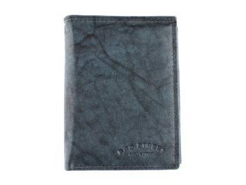 Szaro niebieski portfel skórzany męski Bag Street