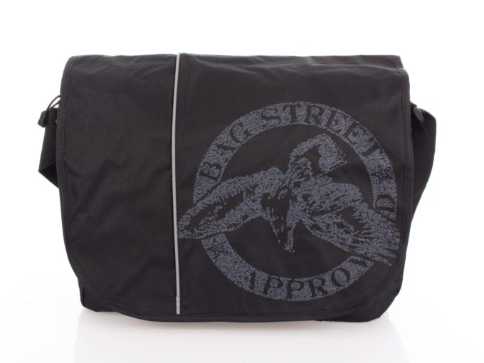 Czarna torba na ramię z kieszenią na laptopa Bag Street