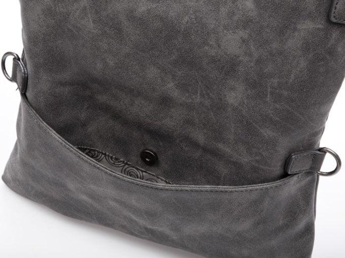 Torebka damska Jennifer Jones składana na pół ciemno szara