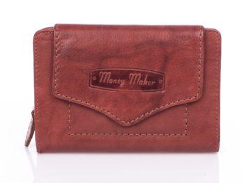Money Maker portfel damski ciemny brąz